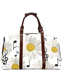 Product image: Mens Duffel Bag Seamless with Music Notes and